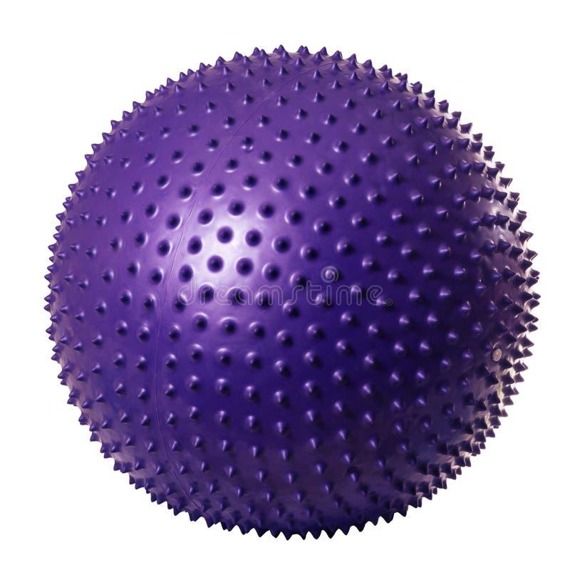 Bola gimnástica púrpura imagen de archivo libre de regalías