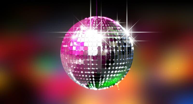 Bola Glinting colorida do disco ilustração royalty free