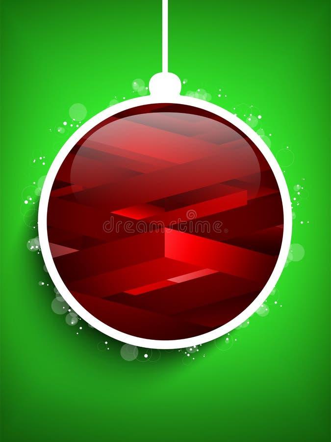 Bola Gree geométrico de la Feliz Año Nuevo de la Feliz Navidad libre illustration