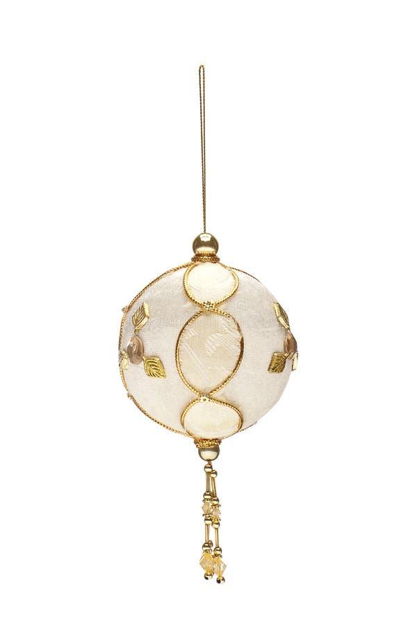 Bola hecha a mano bordada de la Navidad imágenes de archivo libres de regalías