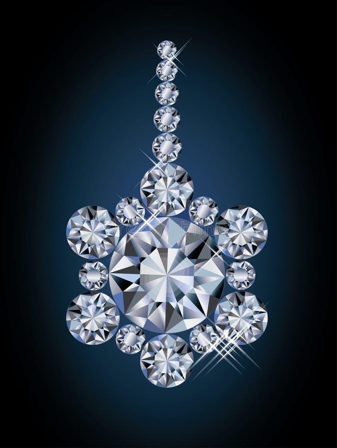 Bola linda de la Navidad del diamante libre illustration