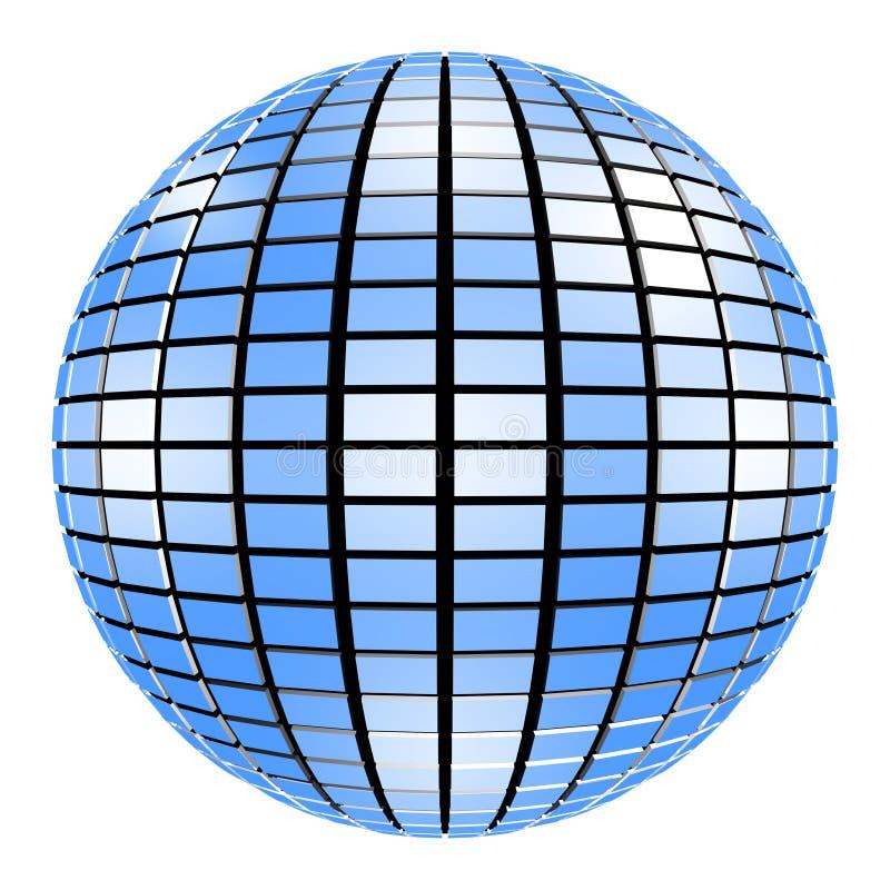 Bola Mirrorball del espejo del partido ilustración del vector