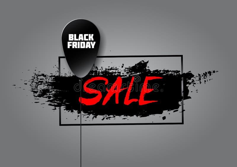 Bola negra hecha en el estilo de papel con un negro blanco franco de la inscripción libre illustration
