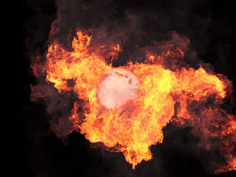 Bola no fogo imagem de stock