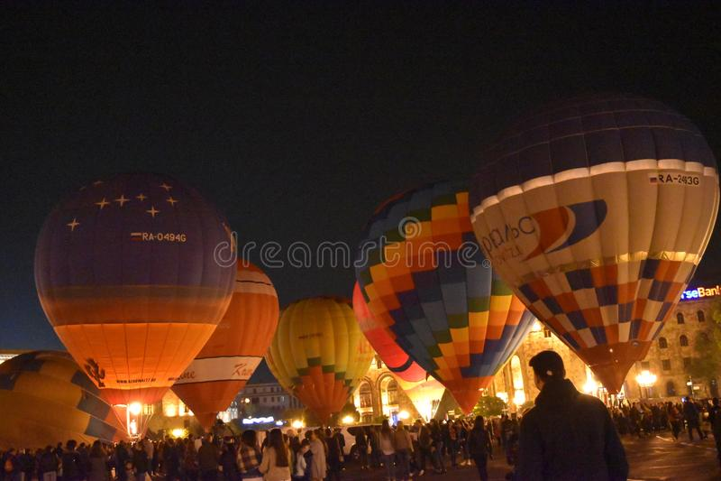 Bola, nuvens, skyball, noite imagens de stock royalty free
