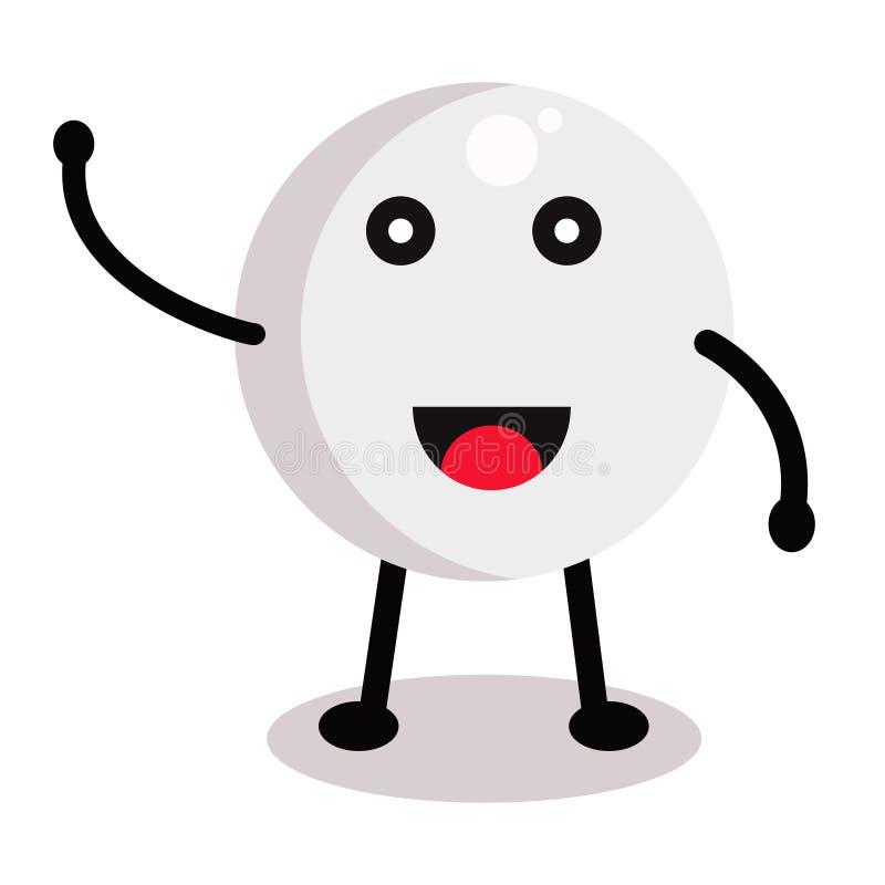 Bola para el ping-pong ilustración del vector