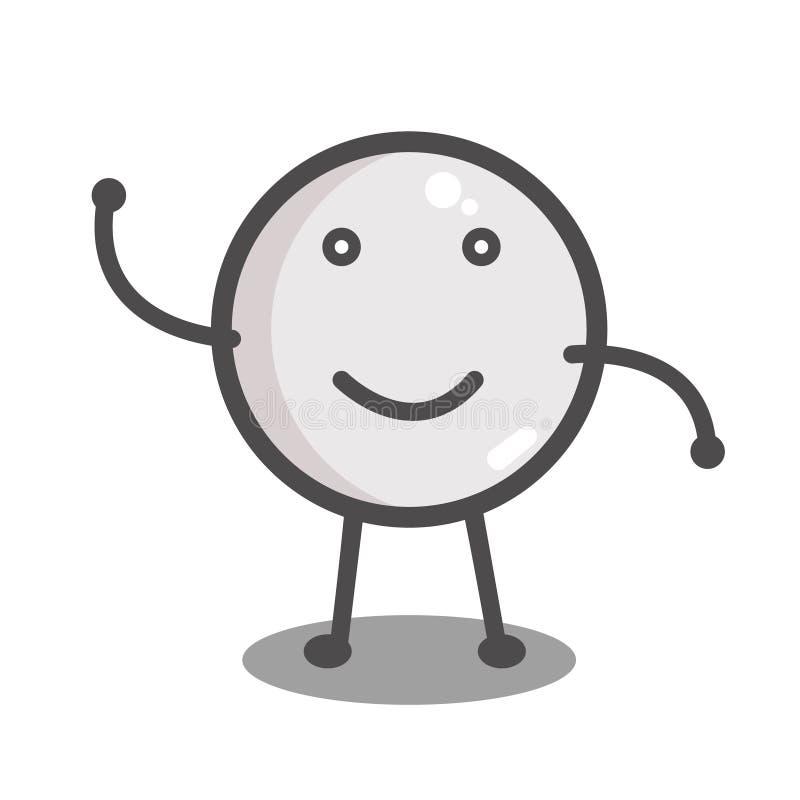 Bola para el ping-pong stock de ilustración
