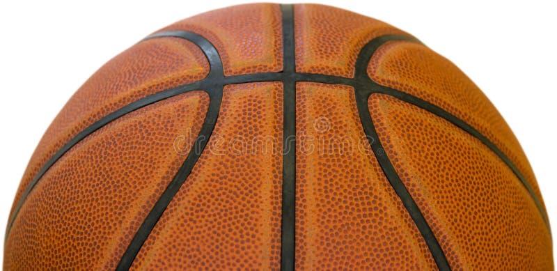 Bola para o jogo no basquetebol da cor alaranjada isolado no fundo branco fotografia de stock royalty free
