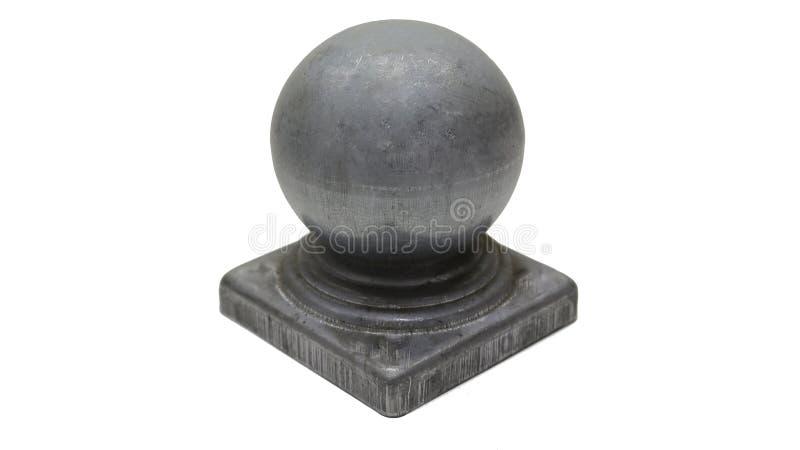 Bola para a parte superior da cerca finial nos cargos fotografia de stock