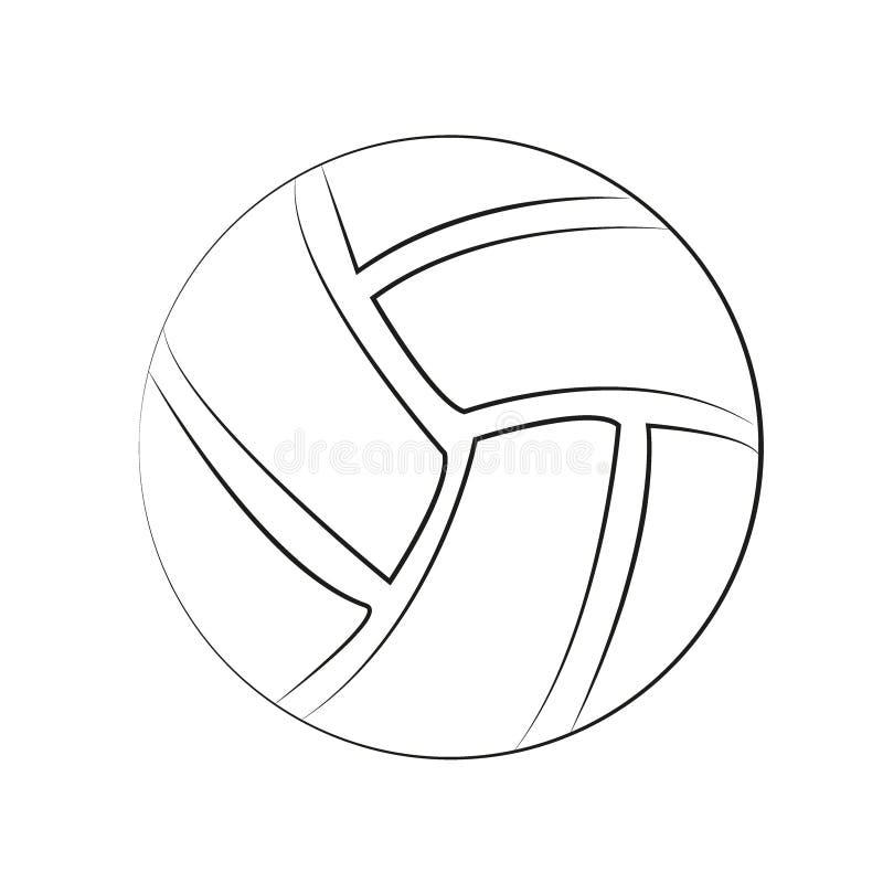 Bola plana del deporte en fondo negro stock de ilustración
