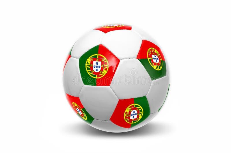 Bola portuguesa da bandeira foto de stock royalty free