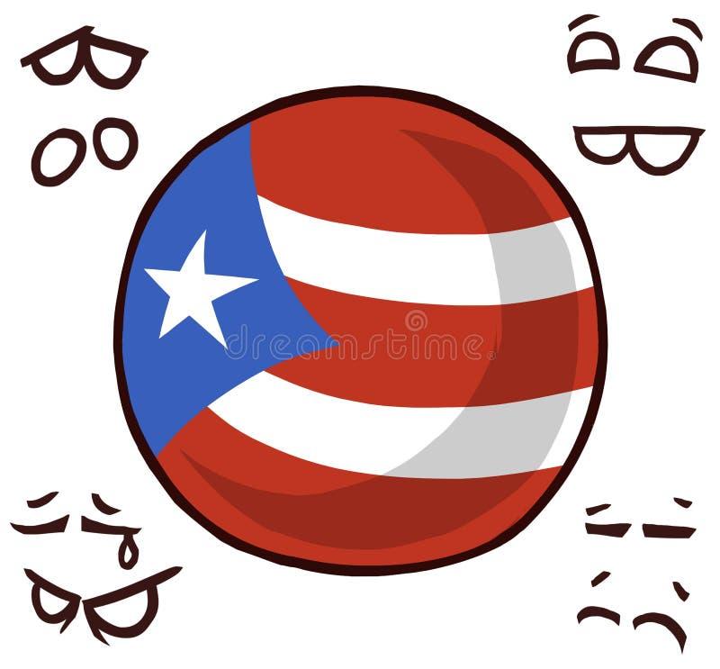 Bola Puerto Rico do país ilustração stock