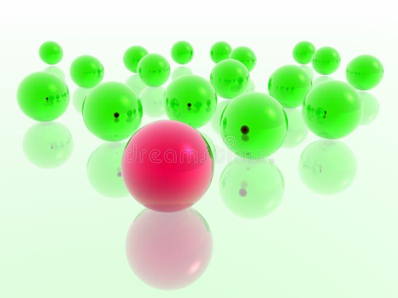 Bola roja libre illustration