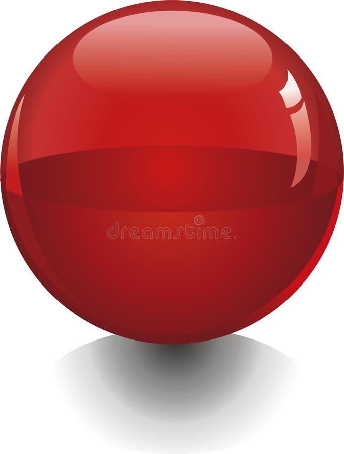Bola roja ilustración del vector