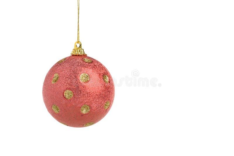 Bola roja de la Navidad fotos de archivo libres de regalías