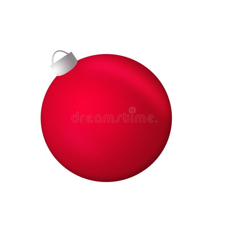 Bola roja de la Navidad aislada en el fondo blanco fotos de archivo