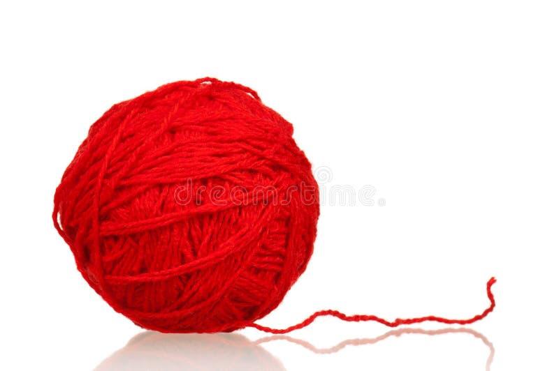 Bola roja del hilado fotos de archivo