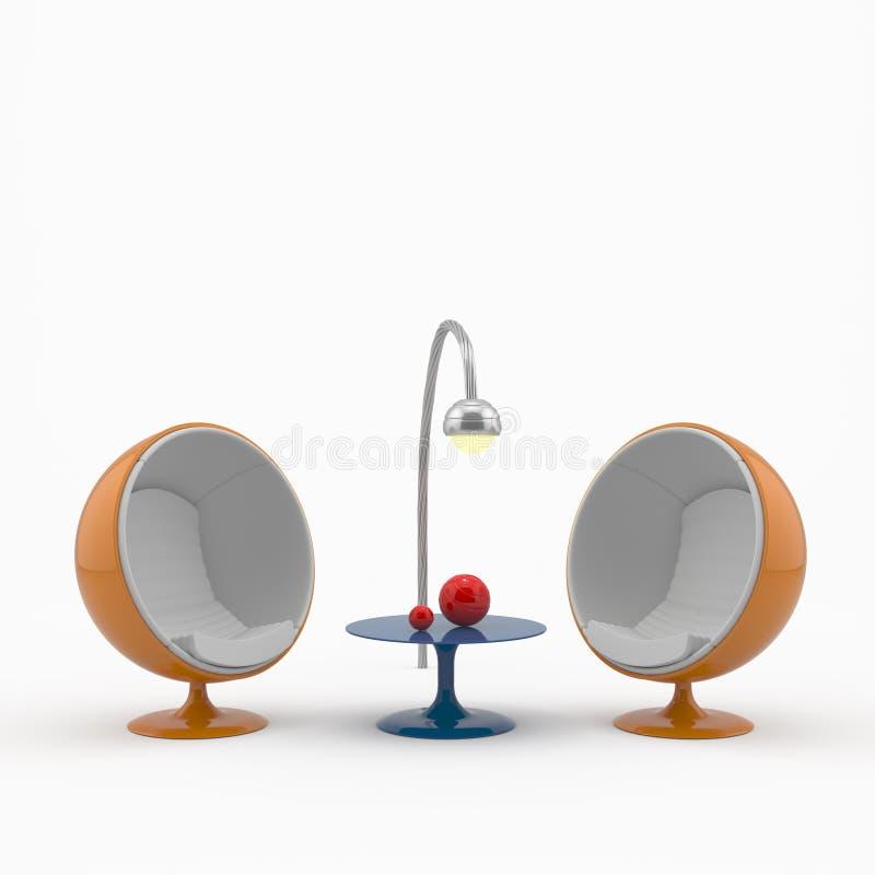 Bola-silla de alta tecnología libre illustration