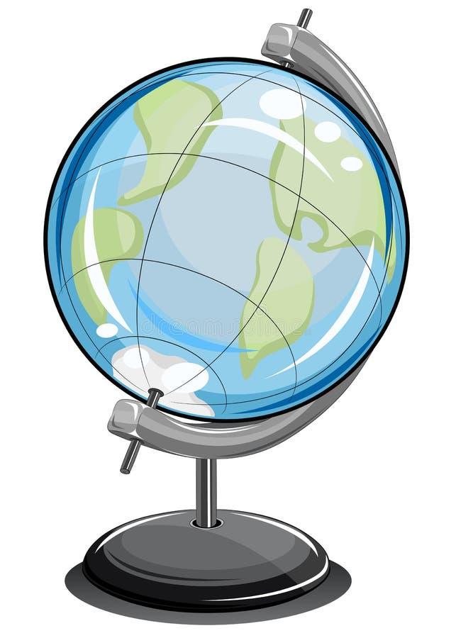 Bola terrenal del globo ilustración del vector