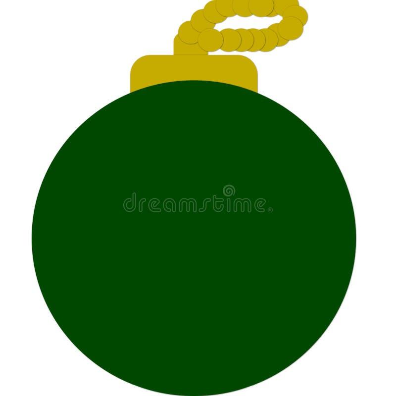 Bola verde de la Navidad libre illustration