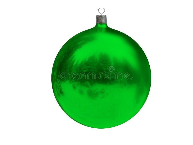 Bola verde do Natal imagens de stock