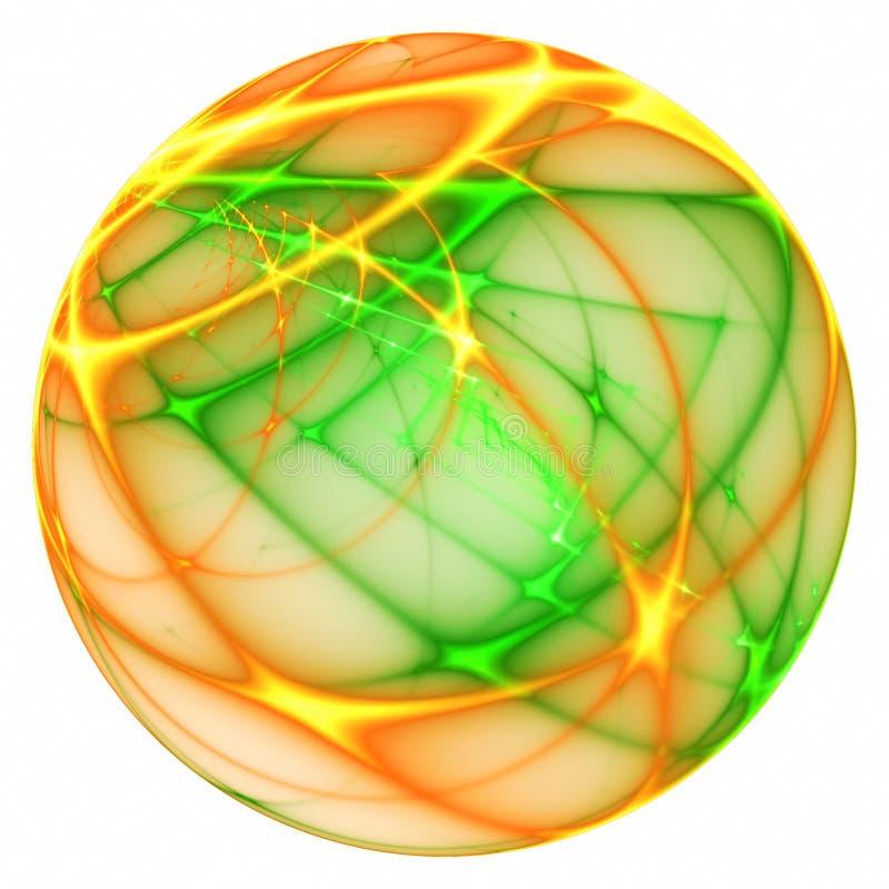 Bola verde e alaranjada mágica ilustração stock