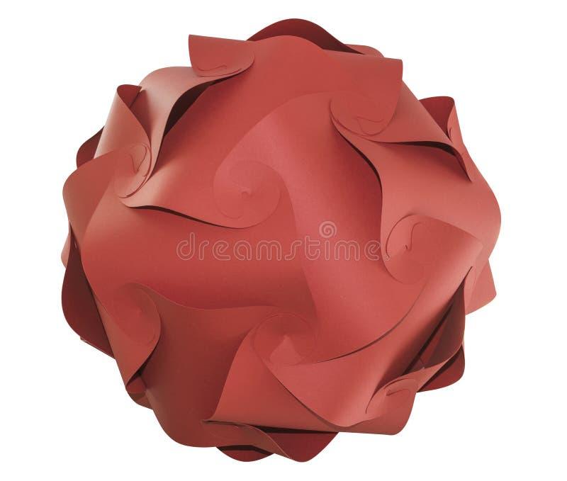 Bola vermelha isolada do origâmi foto de stock