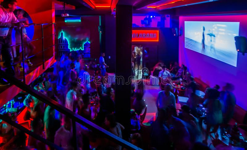 Bolabana, Cuban private owned bar. HAVANA - OCTOBER 20 2014: `Bolabana` private owned bar on 2014, in Havana. Bar licence for privates been reopened on 2018 royalty free stock photography