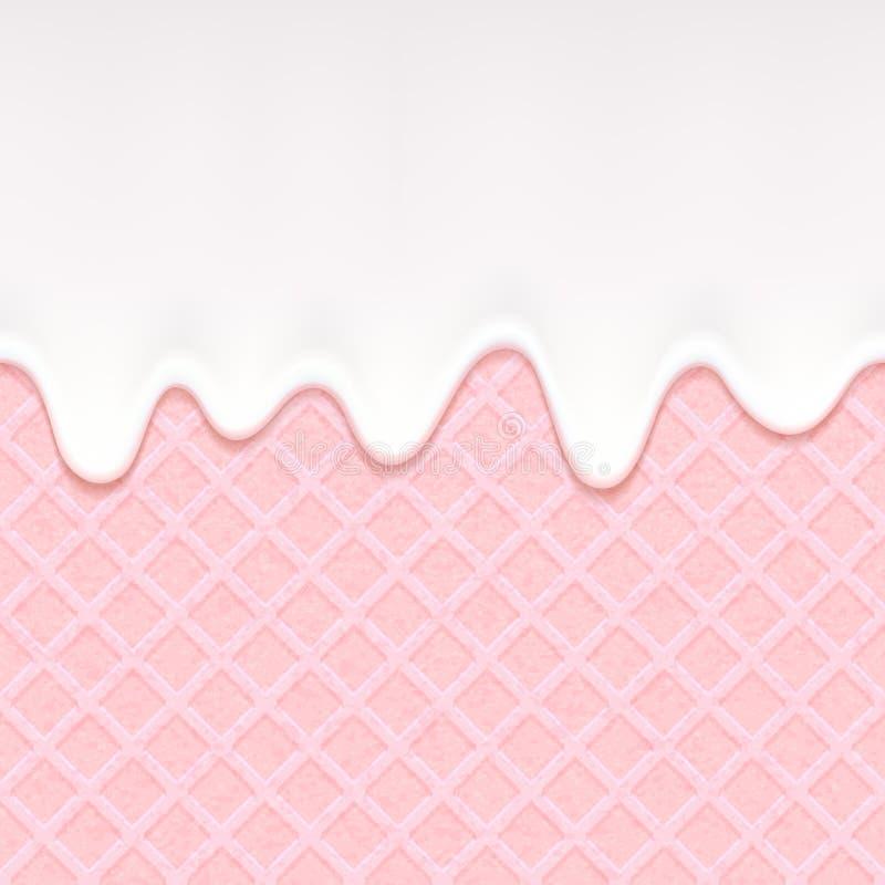 Bolacha cor-de-rosa e creme de fluxo - vector o fundo ilustração royalty free