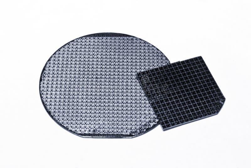 Bolacha de semicondutor foto de stock