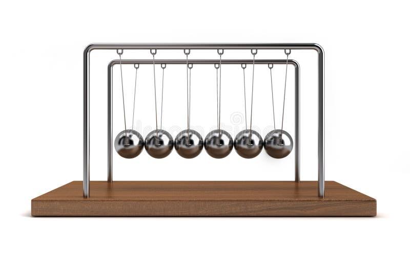 Bolas 5 de la colisión stock de ilustración