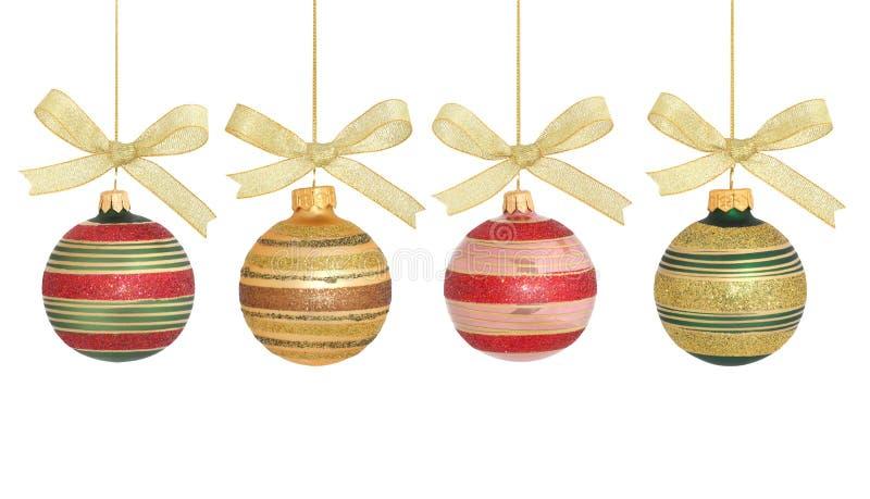 Bolas/aisladas de la Navidad foto de archivo
