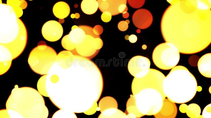 Bolas amarelas de fascinação ilustração do vetor