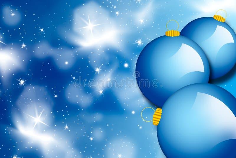 Bolas azules de la Navidad - ilustración stock de ilustración