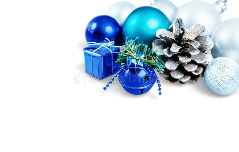 Bolas bonitas do Natal no fundo fotos de stock royalty free
