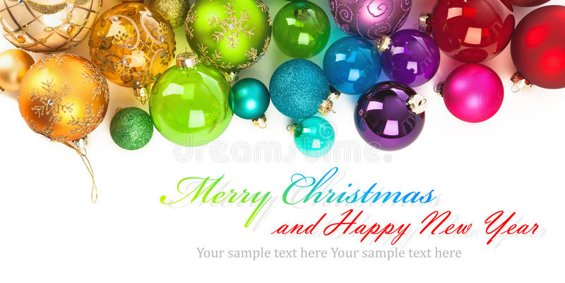 Bolas coloreadas la Navidad fotografía de archivo libre de regalías