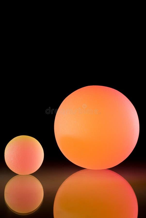 Bolas coloridas con estilo foto de archivo