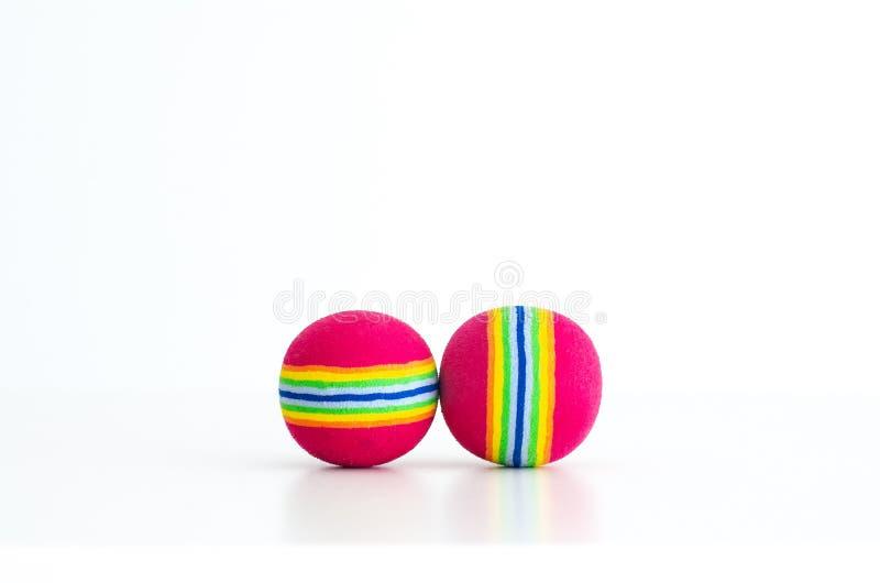 Bolas coloridas del juguete foto de archivo