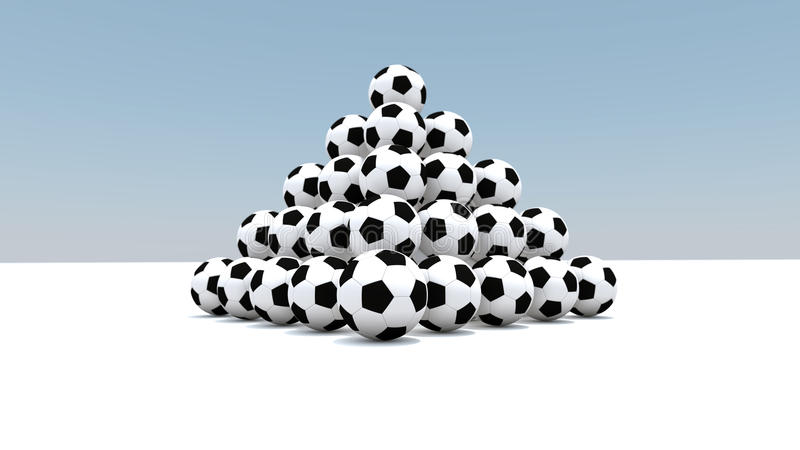 Bolas como pirámide stock de ilustración