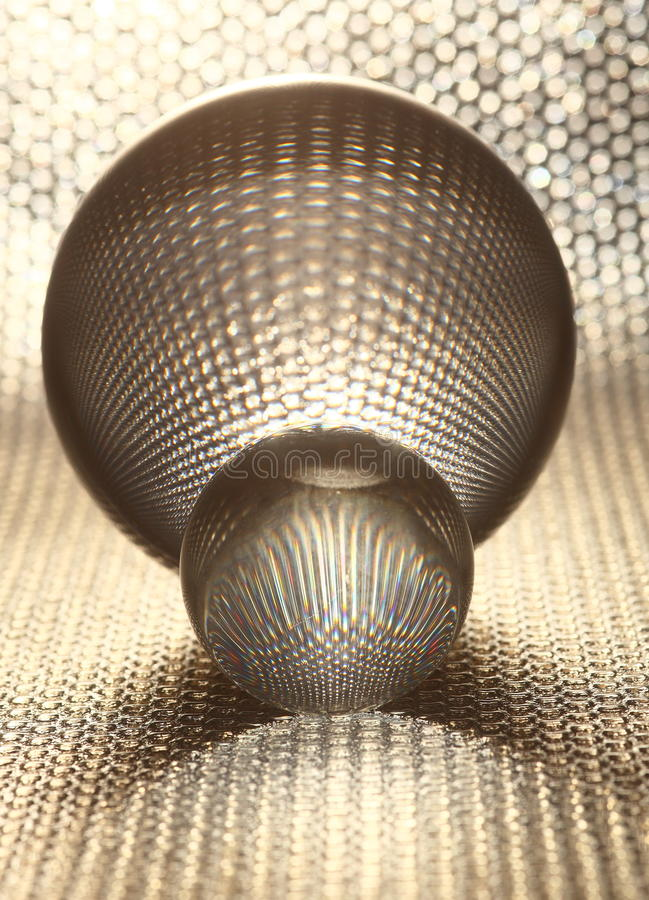 Bolas cristalinas de plata imagen de archivo