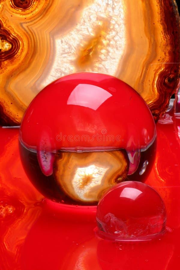 Bolas cristalinas y ágata foto de archivo