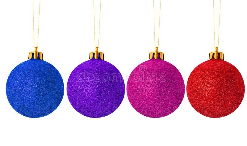 Bolas cuatro de la Navidad fotos de archivo libres de regalías