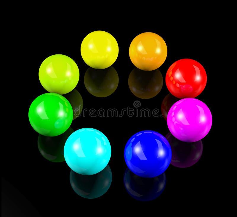bolas 3d coloridas ilustração stock