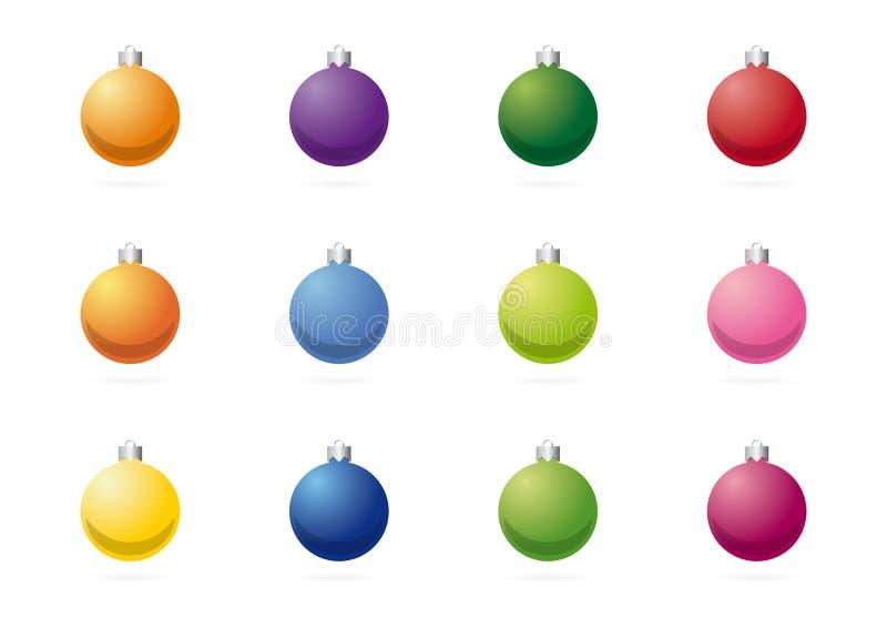 Bolas da árvore de Natal ilustração stock