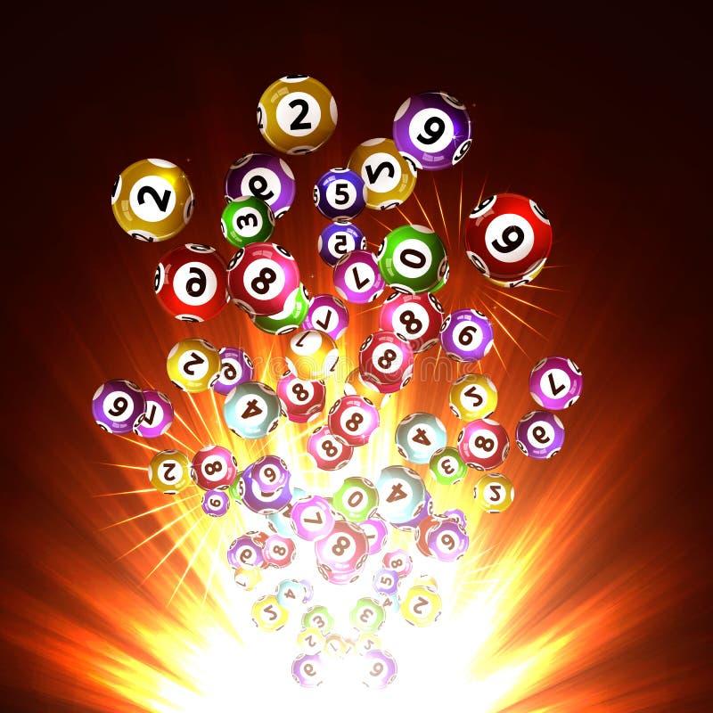 Bolas da loteria ilustração royalty free