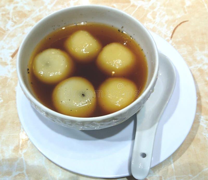Bolas de arroz dulces, chinos Tang Yuan imagen de archivo
