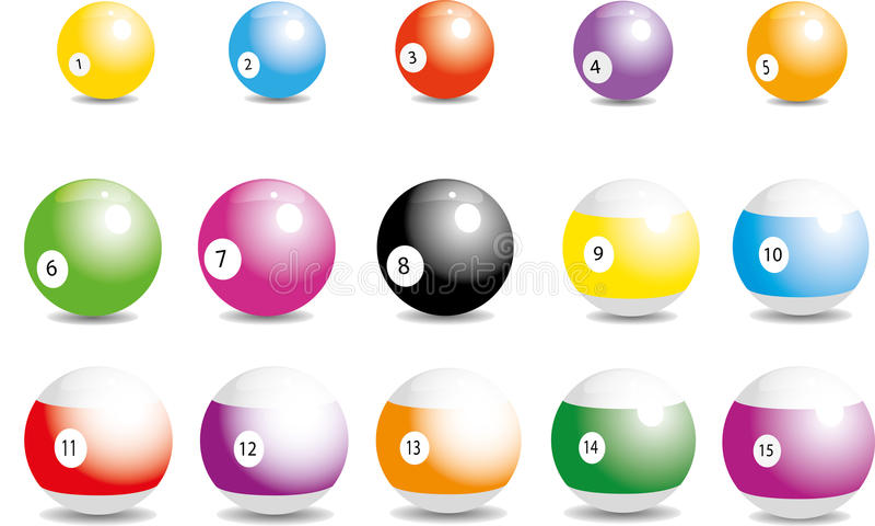 Bolas de billar ilustración del vector