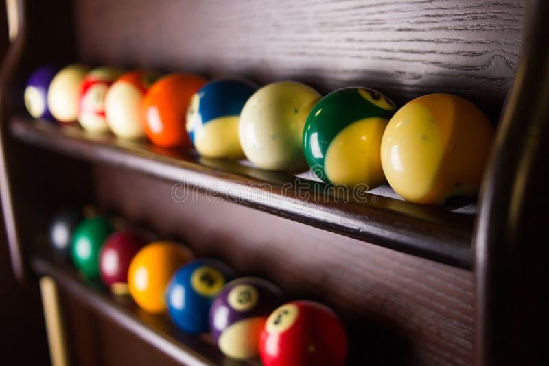 Bolas de billar coloreadas fotografía de archivo