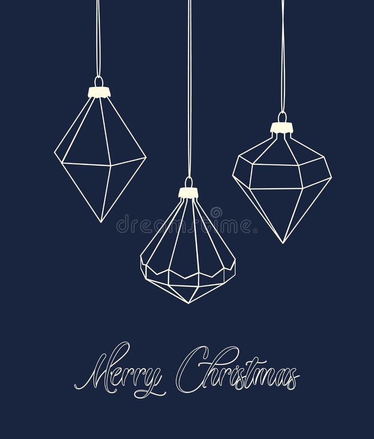 Bolas de Diamond Christmas libre illustration