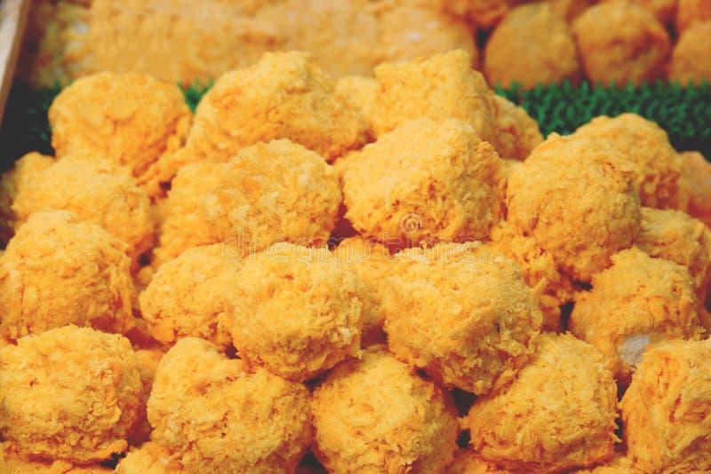 Bolas de Fried Mac y del queso cerca para arriba fotografía de archivo libre de regalías